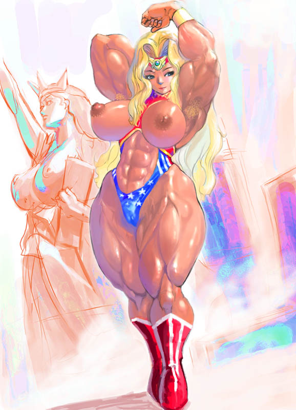 liberty statue of Dragon ball z android 21