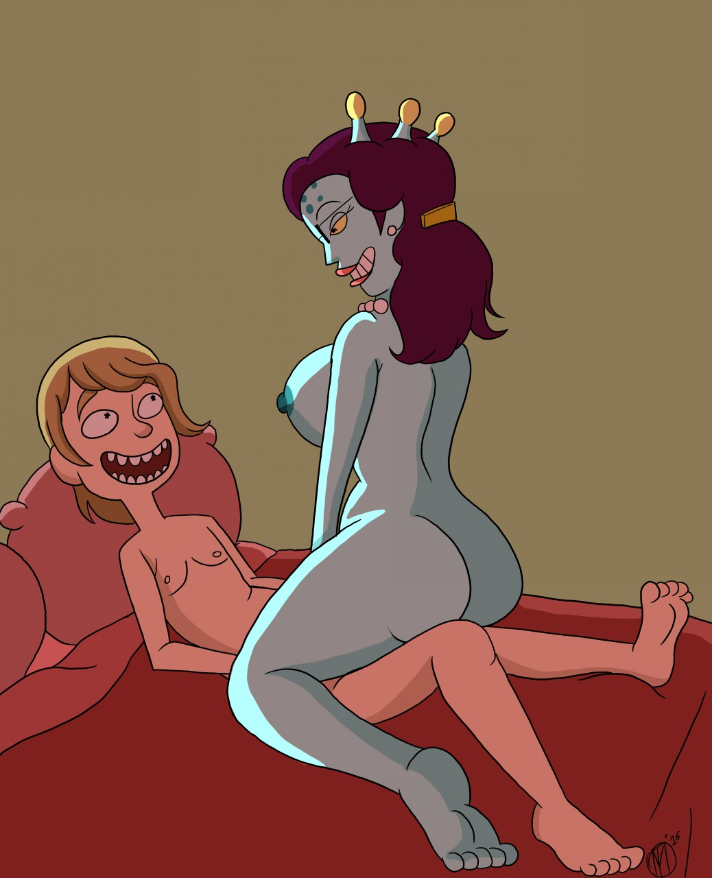 anal morty rick porn and Frozen elsa and anna nude