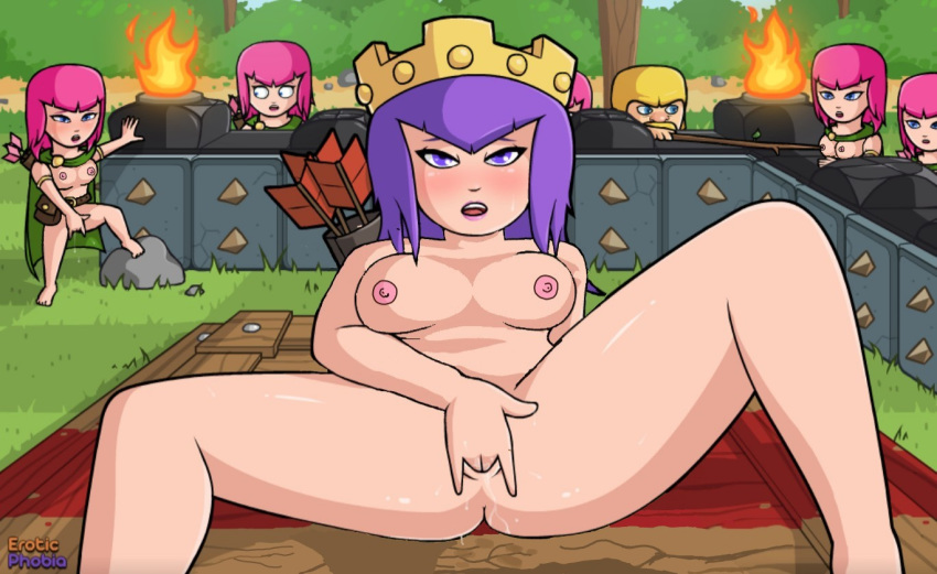 of clans porn clash pic Hentai tentacle breast expansion gif